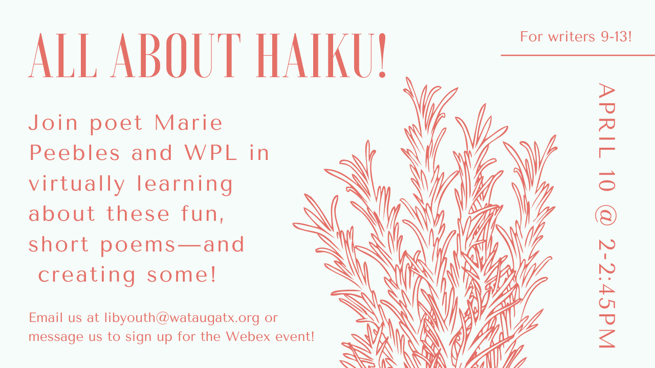 All About Haiku! with Marie Peebles